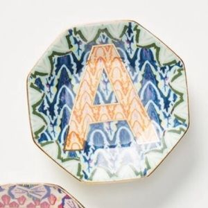 Anthropologie Trinket Tray - Dish-NWT-Letter A